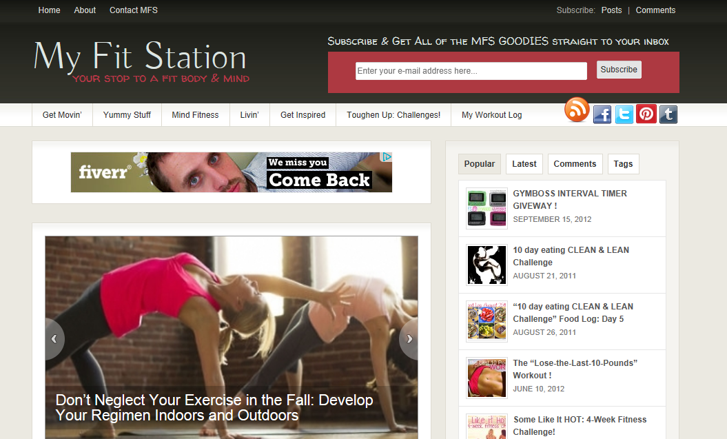 advertise on my fit station