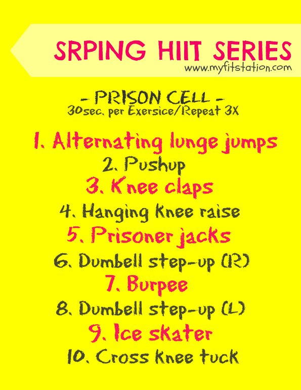 HIIT workout prison cell