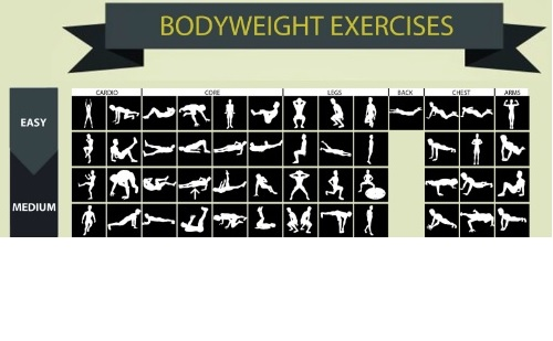 Bodyweight Exercises Infographic
