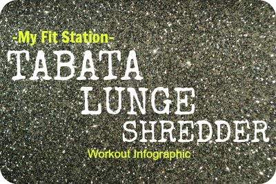 MFS Tabata Lunge Shredder Workout Infographic