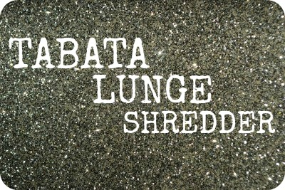 featured tabata lunge shredder workout infographic