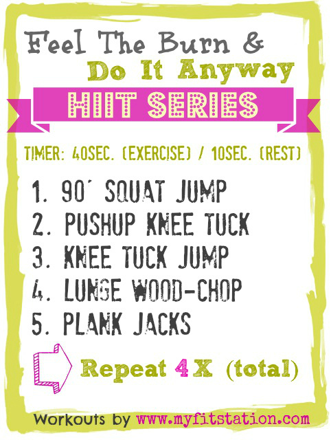 Feel The Burn and Do It Anyway HIIT