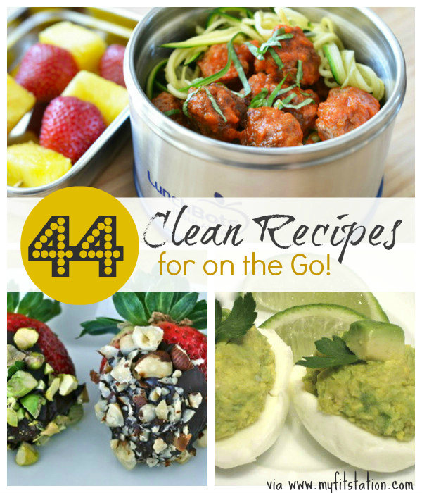 44 clean recipes on the go