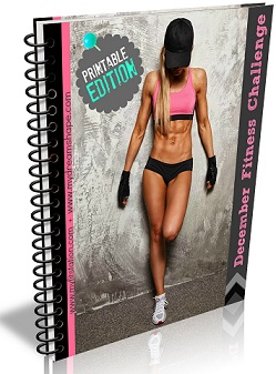 December Fitness Challenge -- DELUXE EDITION eBook via My Fit Station