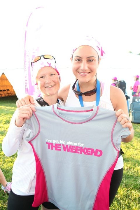 Weekend to End Women's Cancers Walk with my friend