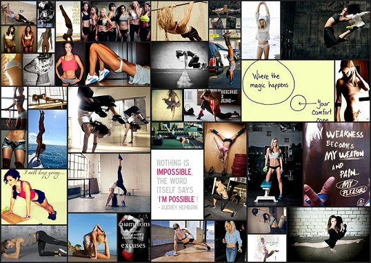 fitness vision board
