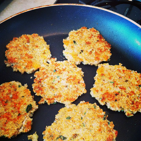 healthy weight loss diet tips with Chaundra quinoa cakes recipe