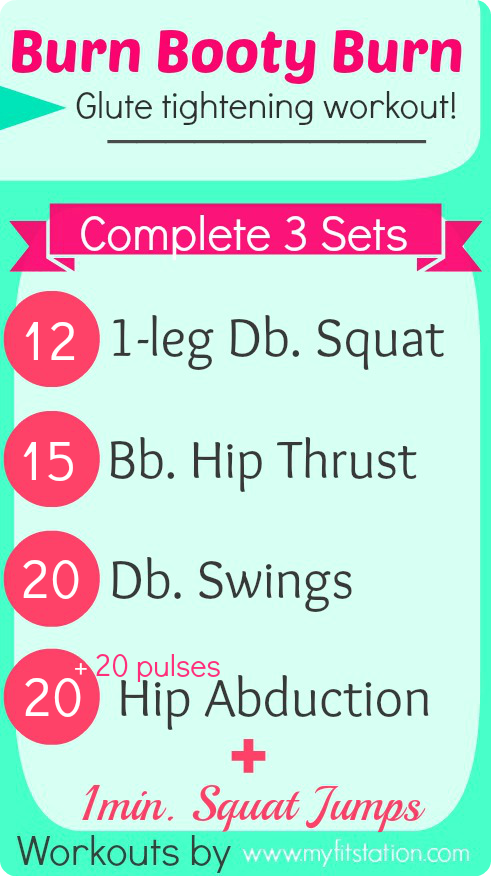 Burn Booty Burn Printable Glute Workout