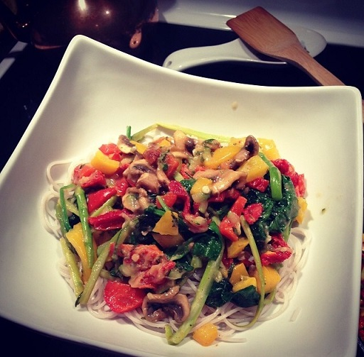 Healthy eating habits - Fully loaded vegan and gluten free pasta