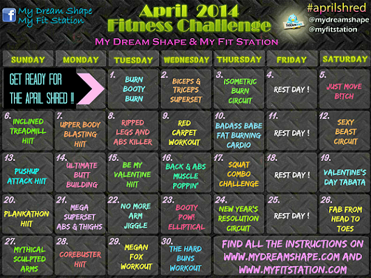 april fitness challenge workout calendar preview