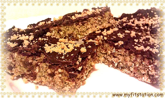 healthy peanut butter breakfast recipes - no-bake-choco-peanut-protein-bar