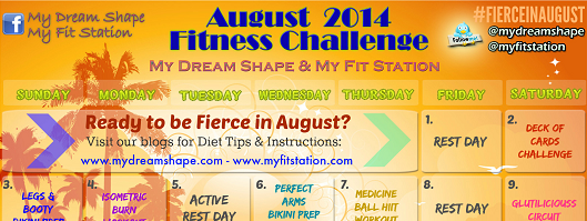 featured Fierce in August Workout Calendar 2014