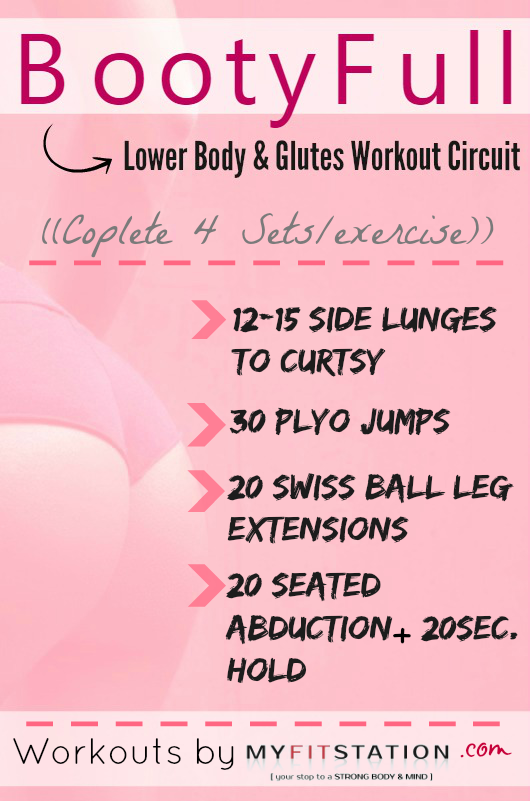 BootyFull Lower Body & Glutes Workout - Printable