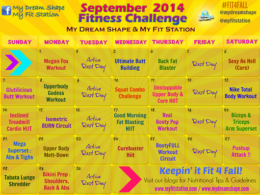 September Fitness Challenge - Workout Calendar preview