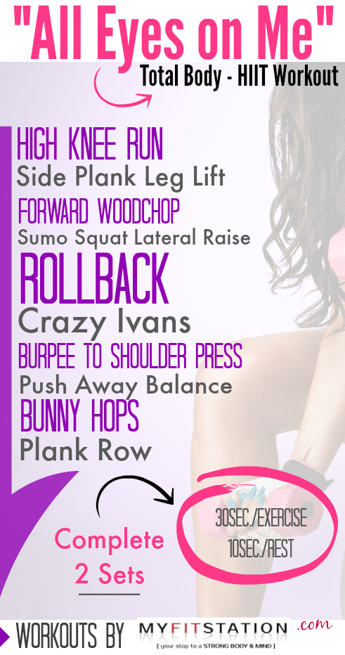 All Eyes on Me - Total Body HIIT Workout Printable
