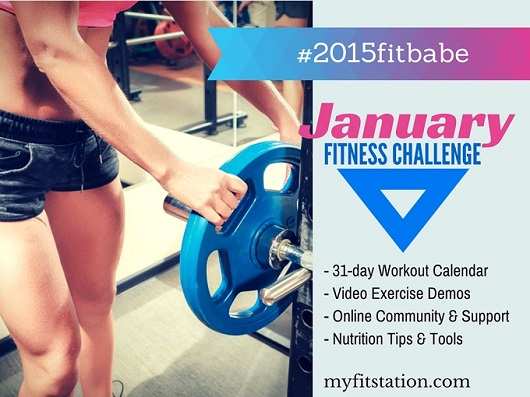January Fitness Challenge - 2015 Fit Babe Workout Calendar
