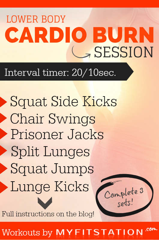 Lower Body Cardio Burn Session - MFS Printable Workouts