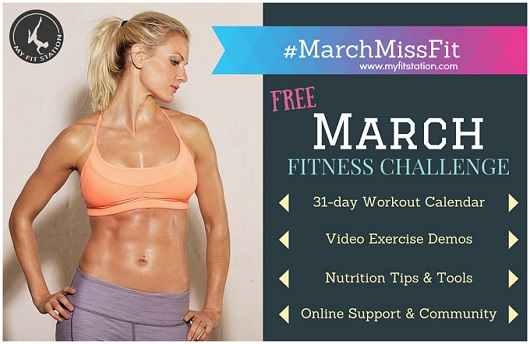 March Fitness Challenge - 31-day Workout Program via myfitstation